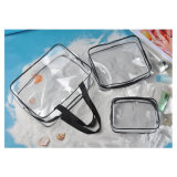 PVC Makeup Cosmetic Handbags Clear Waterproof Beach Bag for Travel