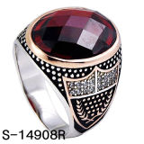Factory New Design 925 Sterling Silver Men Ring Two Colors Plating.