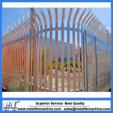 Galvanized Steel Curved Top Palisade Fencing