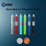 Vape Pen Bubbler Dry Herb Atomizer with 2 Replaceable Quartz Coil