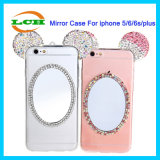 Mouse Ear Bling Rhinestone Mirror Phone Case for iPhone 7/6s/6