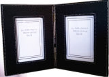 10 X 15 Black Leather Photograph Frame Book