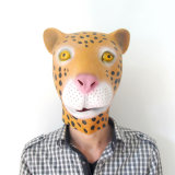 Overhead Latex Rubber Leopard Animal Costume Halloween Mask