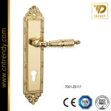 Zinc Alloy Lever Door Handle Lock on Plate (7001-Z6117)