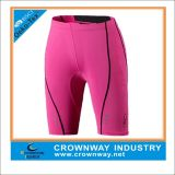 Men′s Pink Polyester/Spandex Shorts with Printed Logo