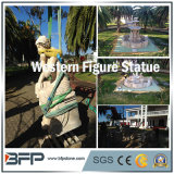 Western Figure White Natural Granite Carved Stone/ Statues/Sculpture for Garden