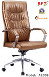 Office Furniture Wooden Hotel Leather Manager Arm Chair (A2009)