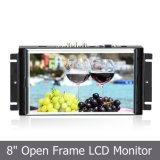 Metal Open Frame Industrial TFT Panel with 8′′ LCD Touch Monitor