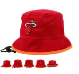Beautiful Red Cotton Bucket Hat with Embroidery