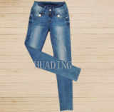 Wholesale New Collection Women Fashion Slim Fit Denim Jeans (Hdlj0050)