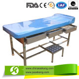 Stainless Steel Medical Examination Couch with Step Stool