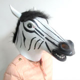 Hot Longhorn New Product Latex Zebra Head Halloween Mask
