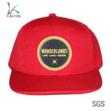 Custom Red Embroidered Patch 5 Panel Hip Hop Cap Snapback
