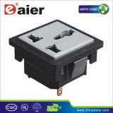 3pin Squared Multiple Outlet AC Power Socket