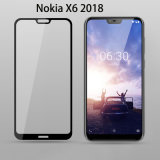 2.5D Silk Print Full Cover Tempered Glass for Nokia X6 2018