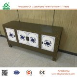 Customized Wooden Fashion Crack Lacquer Sideboard