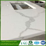 Calacatta White Quartz Stone Countertop for Kitchen and Bathroom