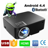Portable Mini Android 4.4 WiFi Smart LED LCD Bluetooth Projector