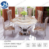 Luxury Sea Shell Edge Top Marble Dining Room Round Rotary Table