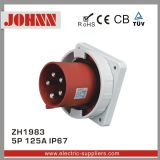 IP67 5p 125A Panel Mounted Plug for Industrial