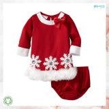 Christmas Kids Garment Snow Pattern Children Clothes Set