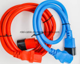 Blue Color 220V VDE Approval 3 Pins IEC C19 C20 to C13 C14 Connector Power Cord