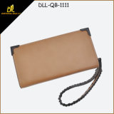 New Arrival Elegant Leather Ladies Wallet with Wrist Strap
