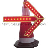LED Direction Arrow Light Traffic Sign for Traffic Cone