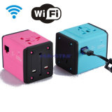 Travel Adapter with USB Charger and Travel Router