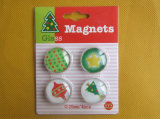 Christmas Crystal Glass Refrigerator Magnet
