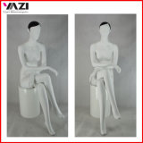 Fashionable Sitting Female Mannequin with Black Hair