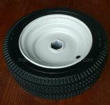 10X3.50-6 Sawtooth Zig-Zag Flat Free PU Foam Hand Truck Wheel