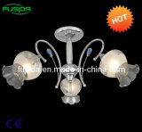 Glass 3 Lamps Chandelier Pendant Light