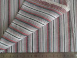 Red/Grey/Charcoal Oxford Stripes 125GSM 100% Cotton Yarn Dyed Fabric