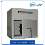 Small Size Front Loading Drop Slot Undercount Key Lock Depository Safe Box