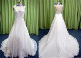 2016 Ball Gown Lace Beading Bridal Wedding Dresses with Strap