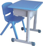 Plastic Single School Student Table and Chair Sets (SF-66B)