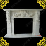 Nice Carved Marble Fireplace Mantel (GS-FF-031)