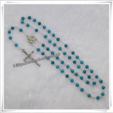 Hot Sell / Semi-Precious 5mm Turquoise Beads Religious Rosary (IO-cr186)