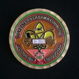 Brass Soft Enamel Challenge Coin with Diamond Edge