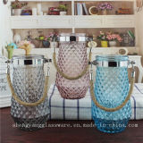 Free Sample Glass Vase with Handle for Home Decoration