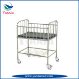 Stainless Steel Crib Bed with Castors