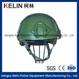 Fast Bulletproof Helmet with Green Color Level Iiia for Military