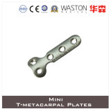 Titanium or Ss Mini T- Metacarpal Plate