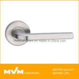Stainless Steel Door Handle on Rose (S1043)