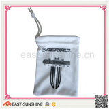 Digital Products Bags, Soft Touch Microfiber Bags with Logo Printing for Digital Products