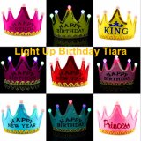 Happy Birthday LED Light up Flashing Kids Tiara Crown Headband