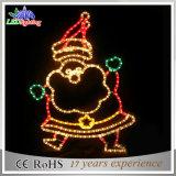 Holiday LED Decoration 2D Motif Christmas Rope Santa Claus Light