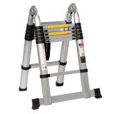 16 Step 5m Aluminium Telescopic Ladder with Hinge