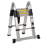16 Step 5m Aluminum Telescopic Ladder with Hinge